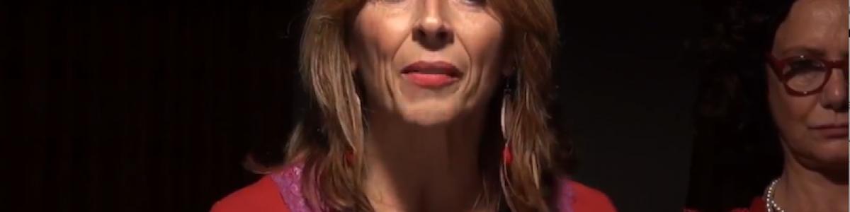 Paola Scatena al leggio